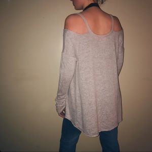 Inspired Hearts Sweaters - Cold Shoulder Oversized Sweater
